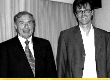 Dr. Schmid und Thomas Kieninger