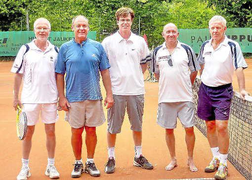 Waldemar Weiss, Hubert Jauker, Tomas Kieninger, Ralf Seeger und Wolfgang Schittenhelm Bild Schwarzwälder Bote